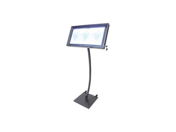 Securit Menukast LED Gelakt Staal | 3xA4
