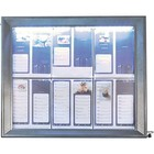 Securit Menu Schrank mit LED-Beleuchtung - Painted Steel - 6xA4