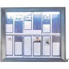 Securit Menukast met LED Verlichting - Gelakt Staal - 6xA4