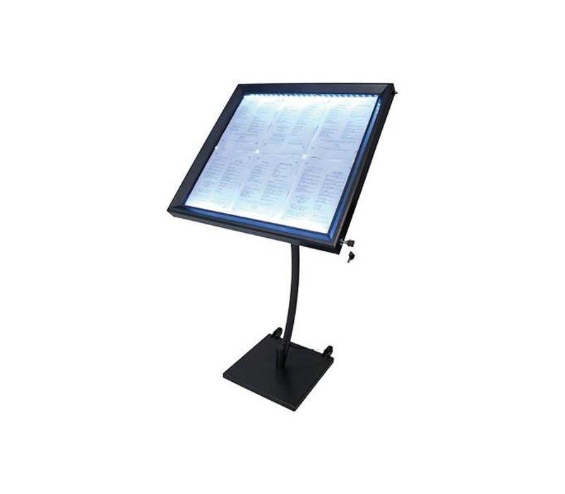 Securit Menu LED Cabinet Painted Steel | 6xA4