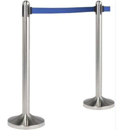 Securit Barrier post Chrome 13 kg - blue drawstring 210 cm - HEAVY DUTY - XXL OFFER!