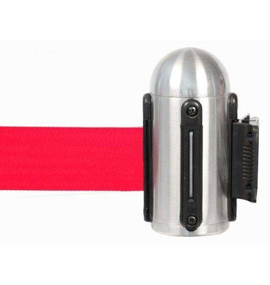 Securit Muursysteem Chroom - Rood trekband | Deluxe | 210 CM