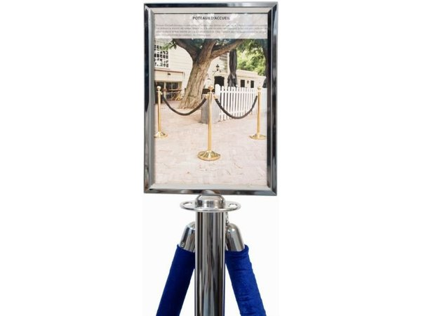 Securit Poster Frame Classic Chrome - A4 | Deluxe