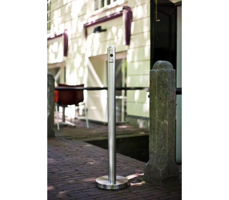 Securit Rookpaal RVS Staand | Eenvoudig te Legen | ∅260X(h)1000mm