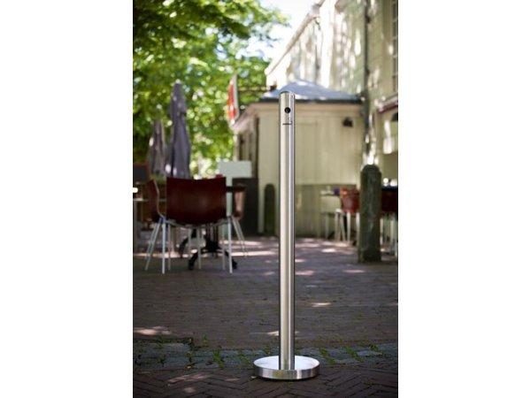 Securit Smoke Pole Edelstahl Standing | Leicht zu legen | ∅260X (h) 1000mm