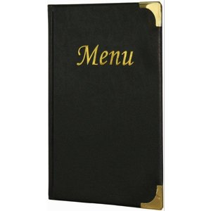 Securit Menu Basic Black A5