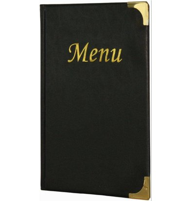 Securit Menu Basic - Black - 10 x A5