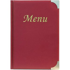 Securit Menu Basic Wine A4