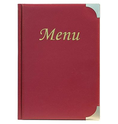 Securit Menu Basic - Wine - 10 x A4 - XXL OFFER