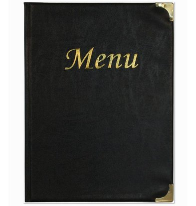 Securit Menu Basic - Black - 10 x A4 - XXL OFFER