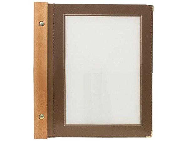Securit Menu folder Brown - Wood A5