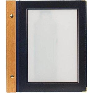 Securit Menu folder Blue - Wood A5