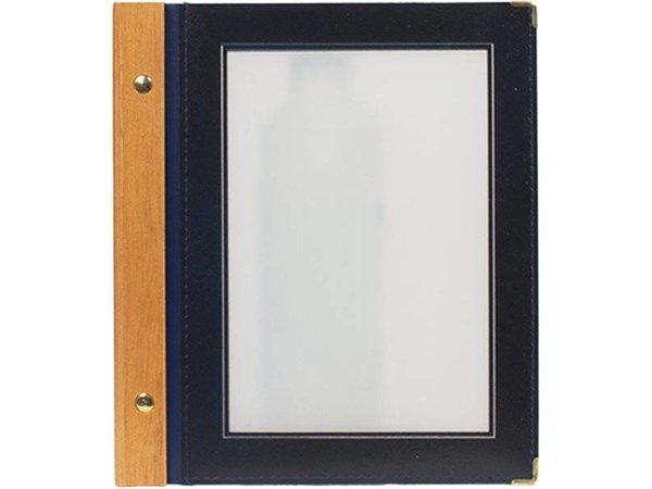 Securit Menü-Ordner Blue - Holz A5