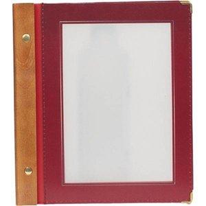 Securit Wine menu folder - Wood A5