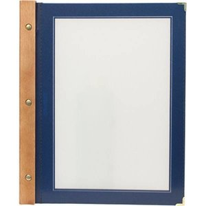 Securit Menu folder Blue - Wood A4