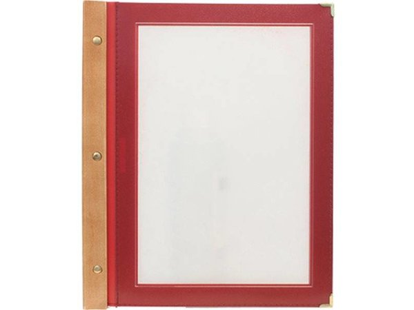 Securit Wine menu folder - Wood A4