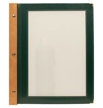 Securit Menu folder Green - Wood A4