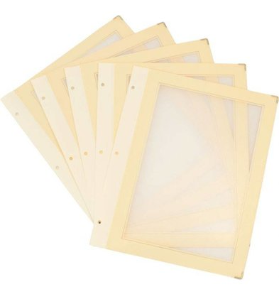 Securit Inserts WOOD Menu - Ivory A5 - 5 pieces