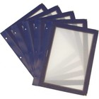 Securit Inserts for WOOD Menu - Blue A5 - 5 pieces
