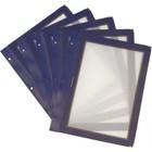 Securit Inserts voor WOOD Menukaart - Blauw A5 - per 5 stuks