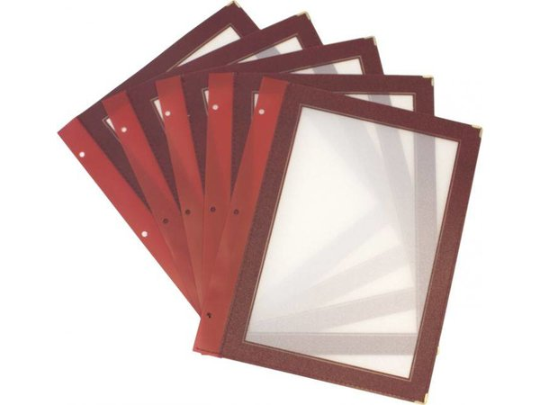 Securit Inserts for WOOD Menu - Wine A5 - 5 pieces