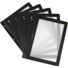 Securit Inserts WOOD Menu - Black A4 - 5 pieces