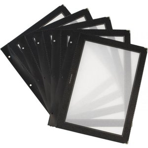 Securit Inserts for WOOD Menu - Black A4 - 5 pieces