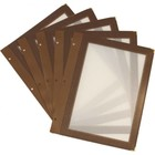 Securit Inserts WOOD Menu - brown A4 - 5 pieces