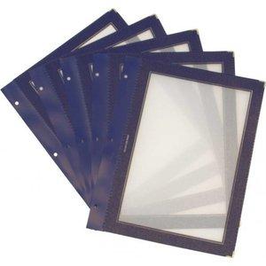 Securit Inserts voor WOOD Menukaart - Blauw A4 - per 5 stuks