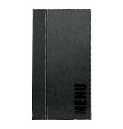 Securit Menu Trendy Black - LONG - 18x36cm