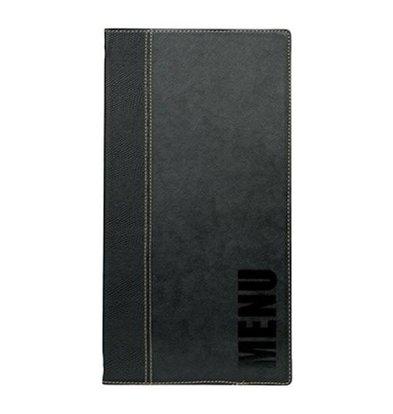 Securit Menukaart Trendy Zwart - LONG - 18x36cm