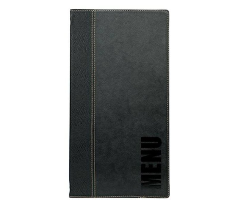 Securit Menu Trendy Black - LONG - 18x36cm