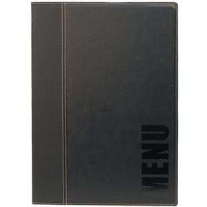 Securit Horeca Menu Trendy - Black A4