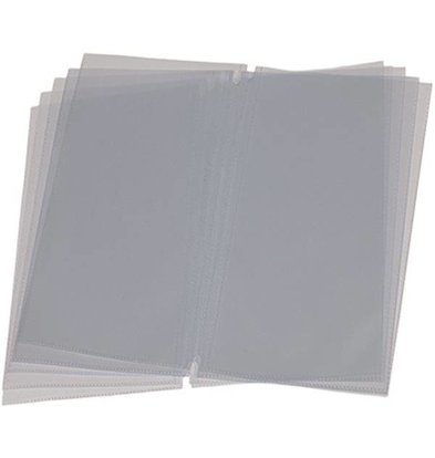 Securit Menu Inserts LONG - 10 pieces - For up to 40 pages.