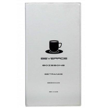 Securit Getränkekarte Entwurf - Weiß A4
