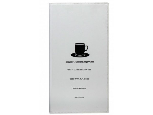 Securit Drinks menu Design - White A4