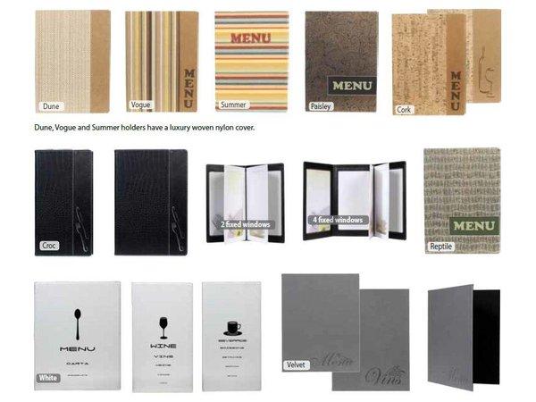 Securit Menukaart Design - Wit A4