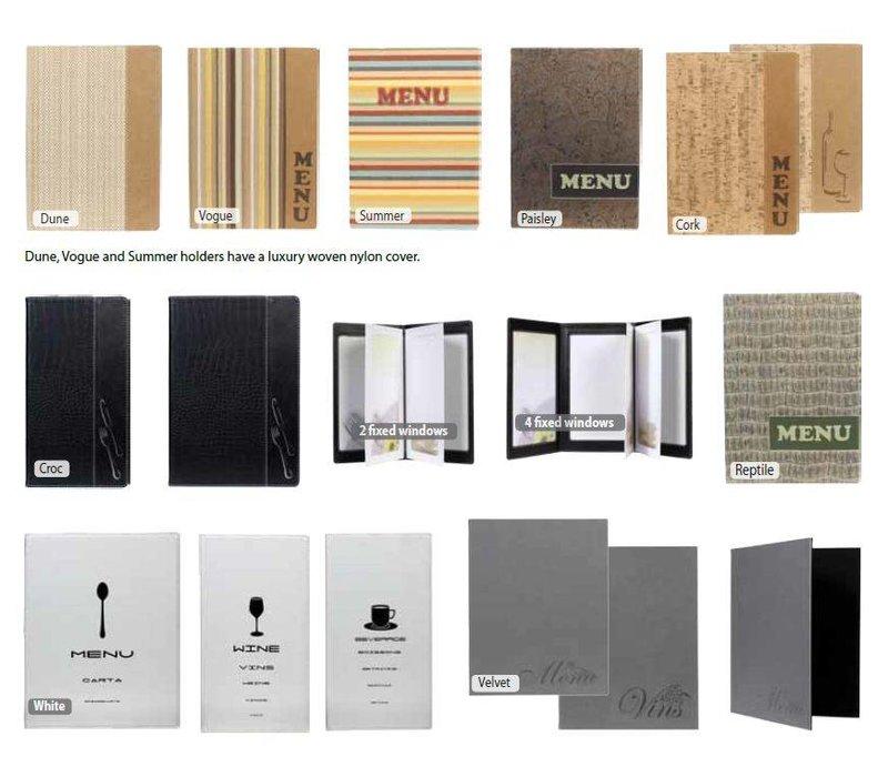 Securit Menu Design - White A4