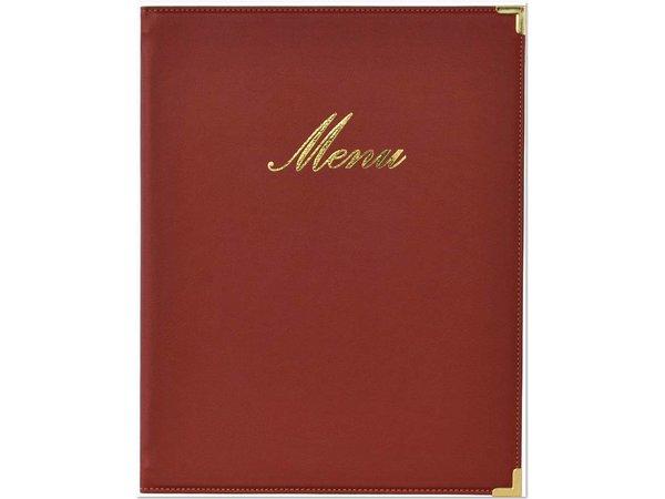 Securit Menu folder Classic - Wine A4