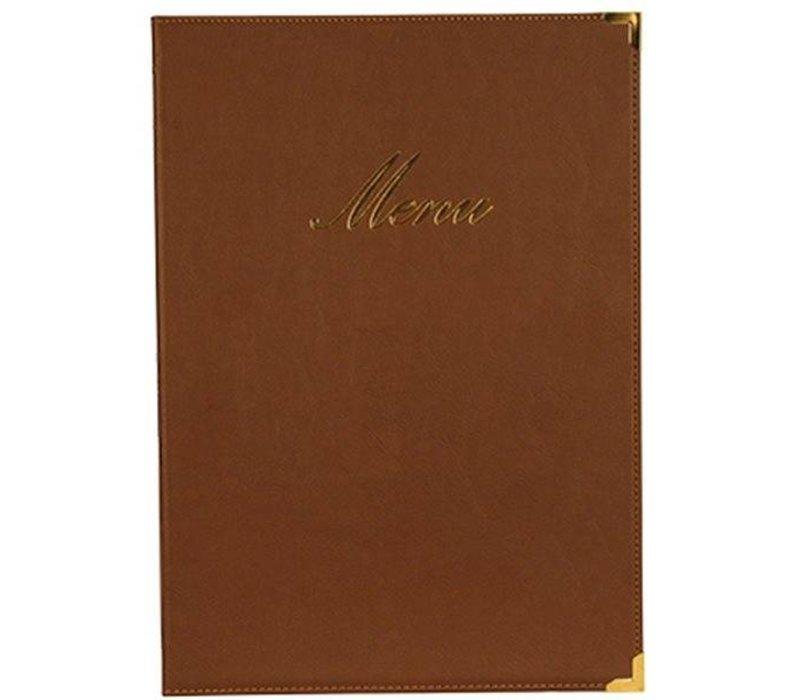 Securit Classic menu folder - brown A4