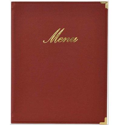 Securit Klassische Menü-Ordner - Wein A5