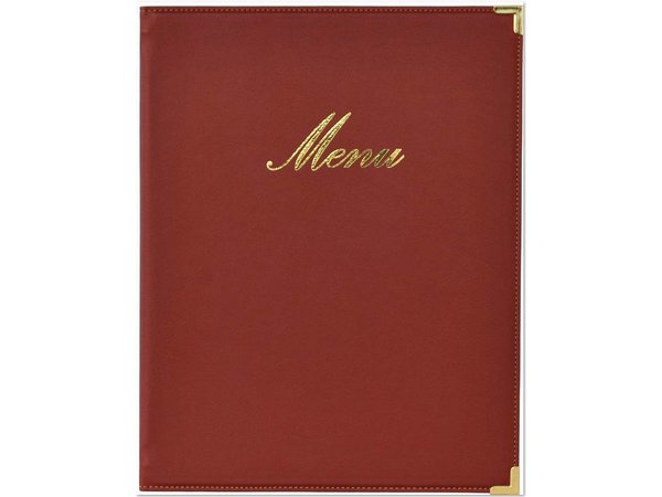 Securit Classic menu folder - Wine A5