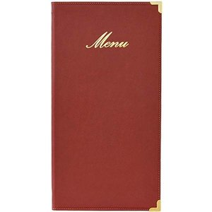 Securit Classic menu folder - Wine - LONG