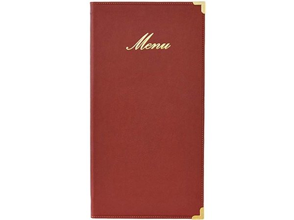 Securit Classic menu folder - Wine - LONG
