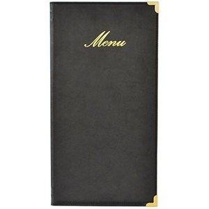 Securit Menu folder Classic - Black - LONG