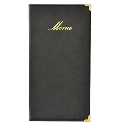 Securit Menü-Ordner Classic - schwarz - lange