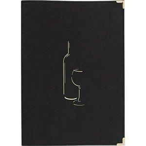 Securit Wijnmenukaart Classic - Zwart A4