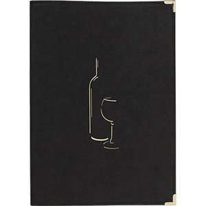 Securit Wine Menu Classic - Black A4