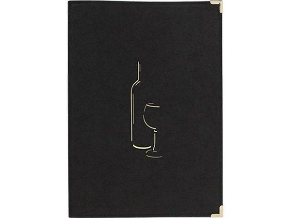 Securit Wine Menu Classic - Schwarz A4