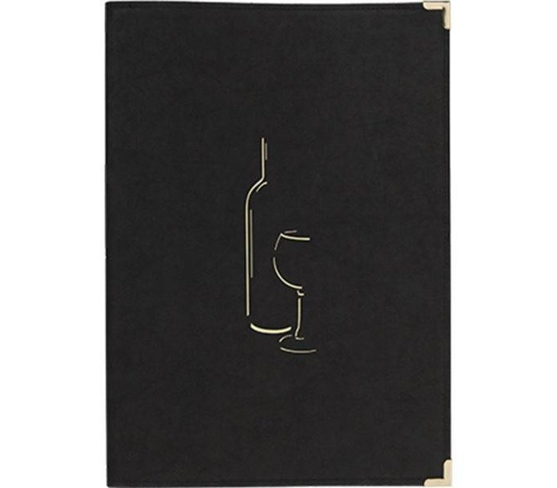 Securit Wine Menu Classic - Black A4